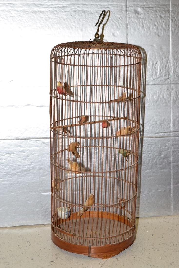 Chinese Bamboo Carved Bird Cage