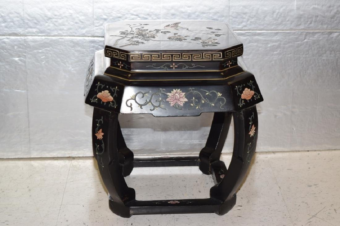 20th C. Chinese Filled Lacquer Garden Seat