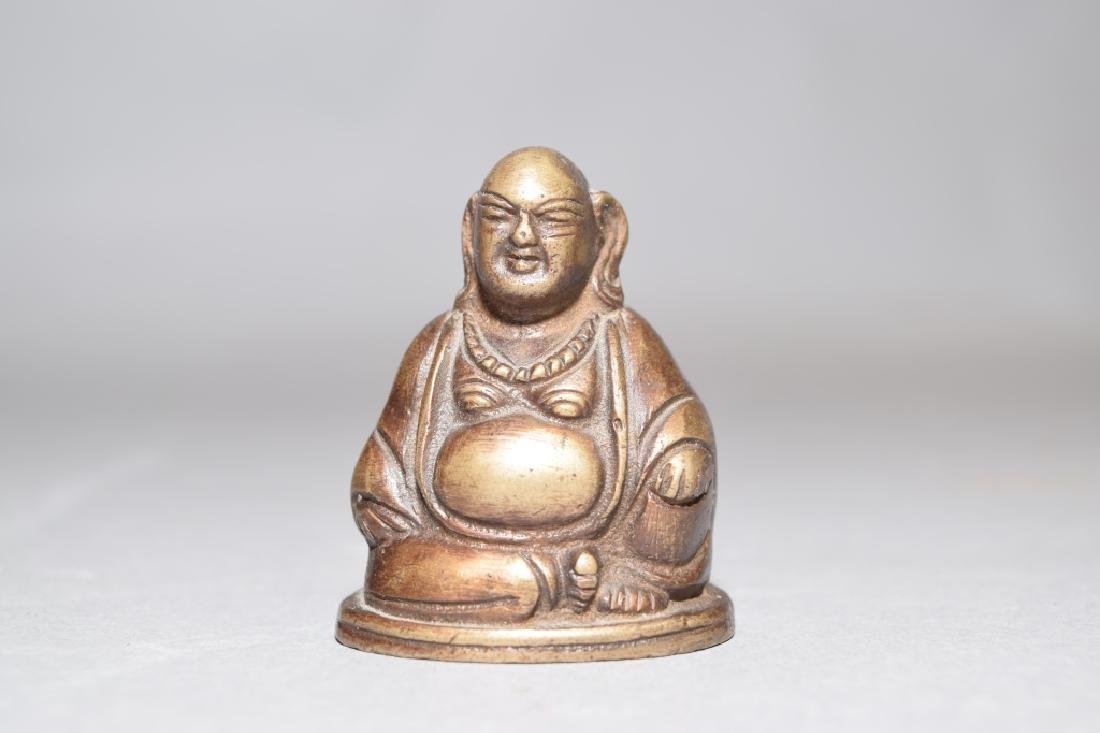 19-20th C. Chinese Bronze Buddha