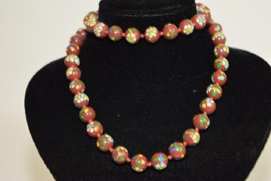Chinese Cloisonne Bead Necklace