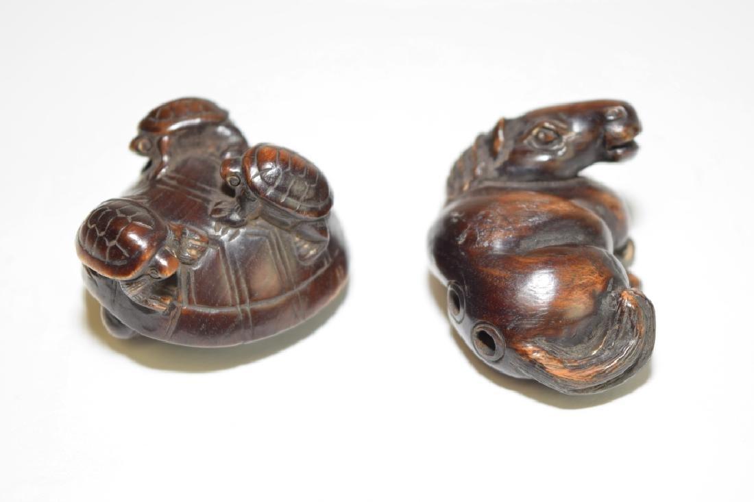 Two Japanese Wood Carved Netsuke - 2