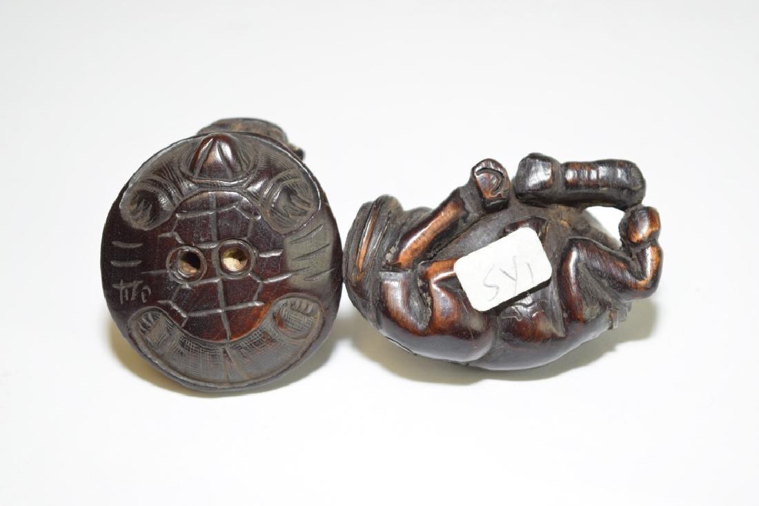 Two Japanese Wood Carved Netsuke - 3