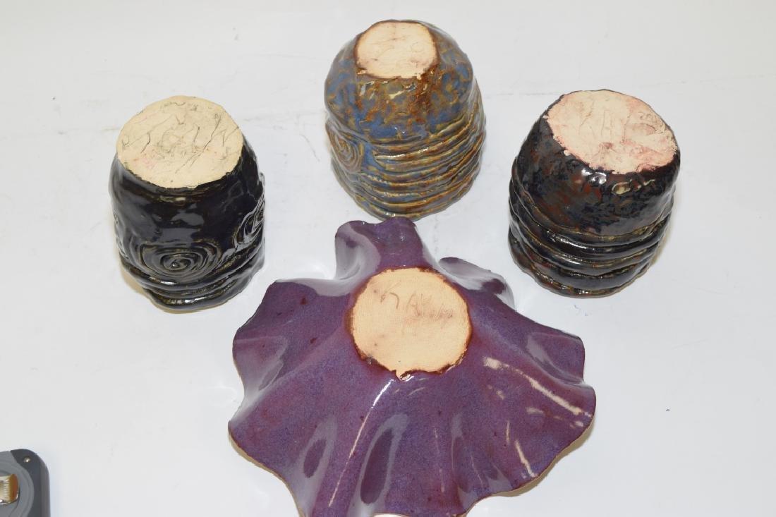 Four Signed Contemporary Glazed Ceramic Wares - 2