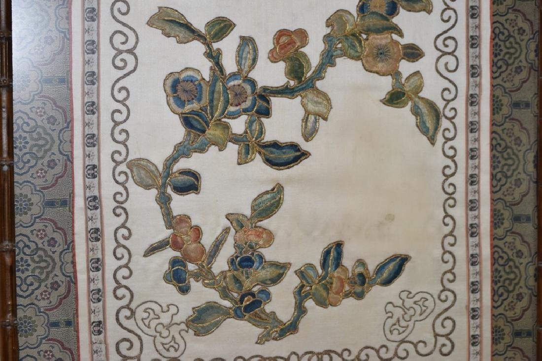 Qing Chinese Embroidery of Flowers - 3