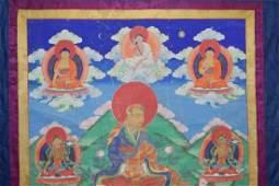 18th C. Tibetan Guru and Tara Thangka