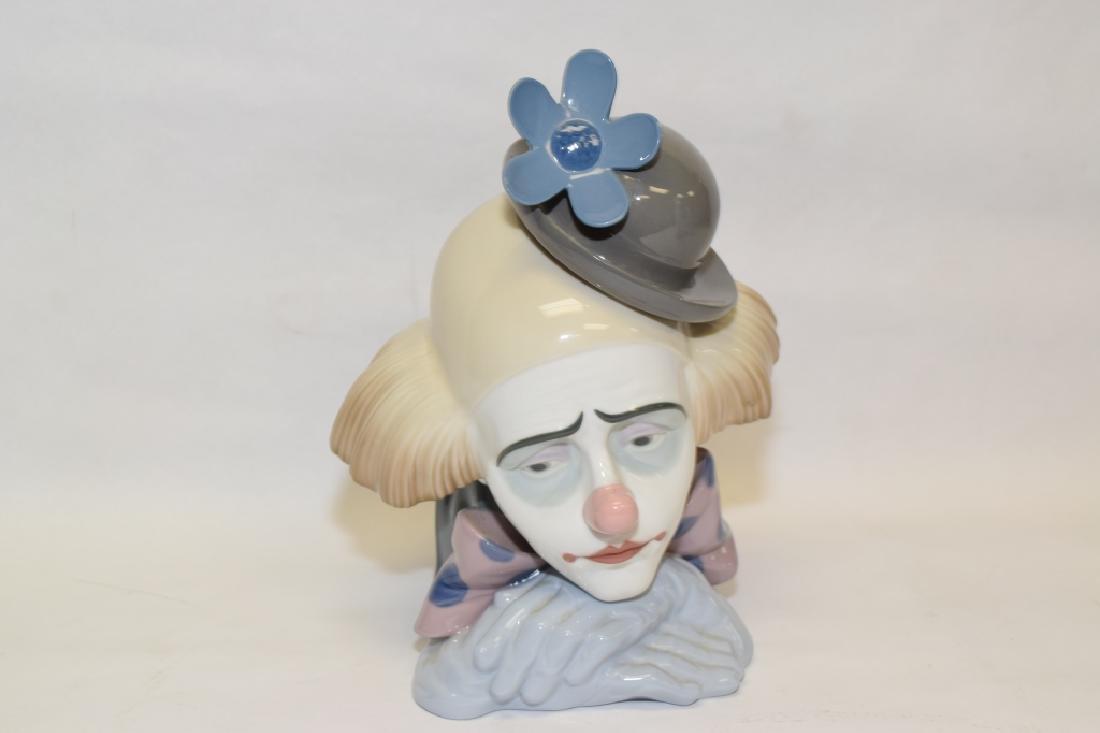 Lladro Clown Bust