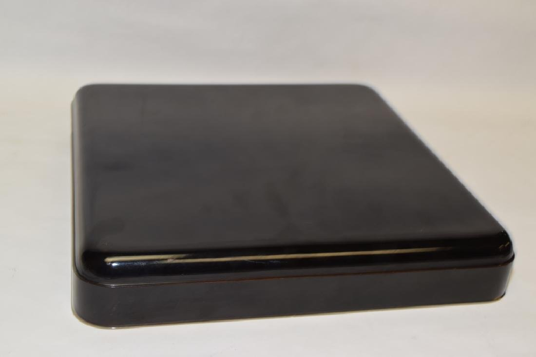 Japanese Gold Painted Black Lacquer Tray - 4