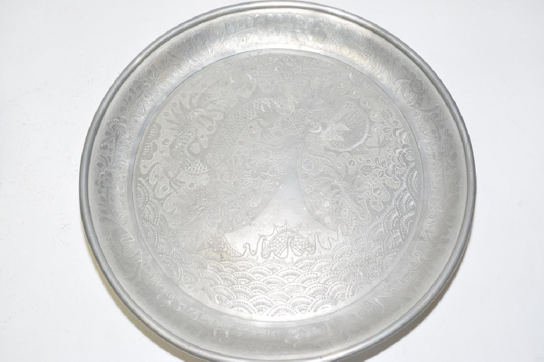 Set of Chinese Pewter Carved Coffee Ware - 8
