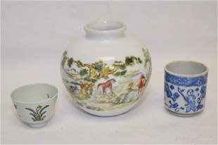 Group of Chinese Famille Rose and BW Wares