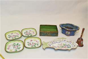 Group of Chinese Enamel over Bronze Wares