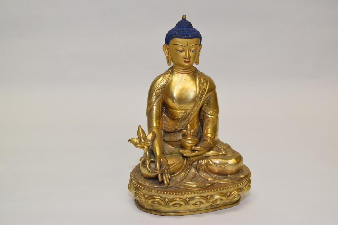 19-20th C. Chinese Gilt Bronze Buddha