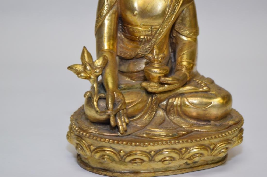 19-20th C. Chinese Gilt Bronze Buddha - 3