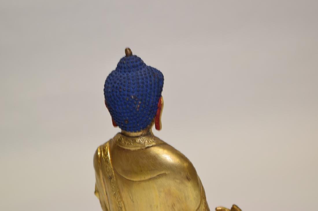 19-20th C. Chinese Gilt Bronze Buddha - 5
