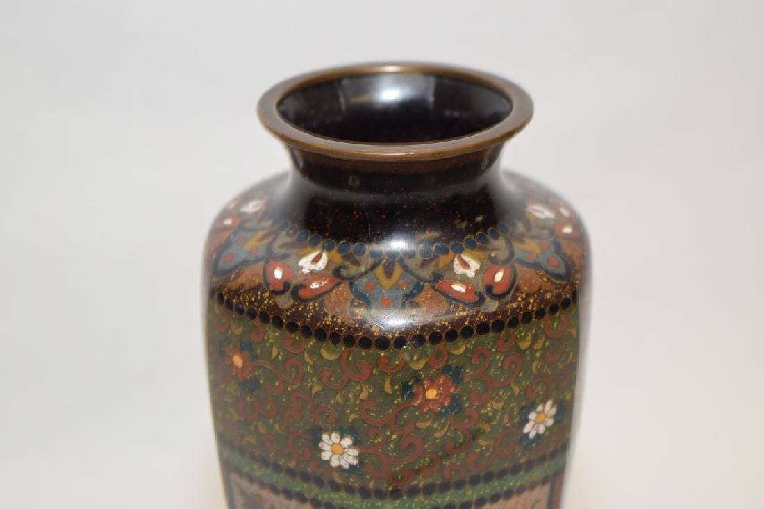 19th C. Japanese Cloisonne Vase - 2