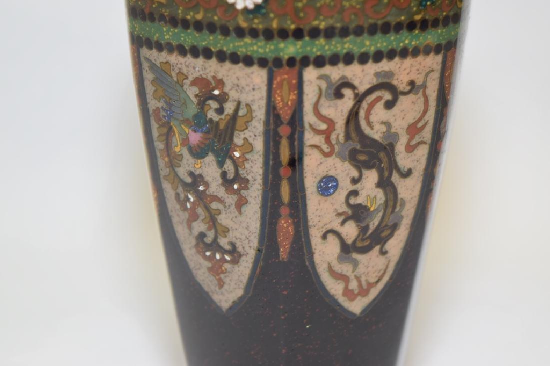 19th C. Japanese Cloisonne Vase - 3