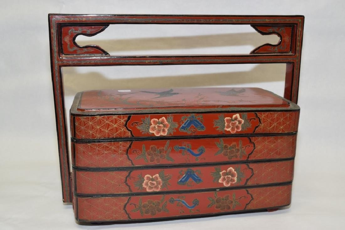 19-20th C. Chinese Lacquer Food Box
