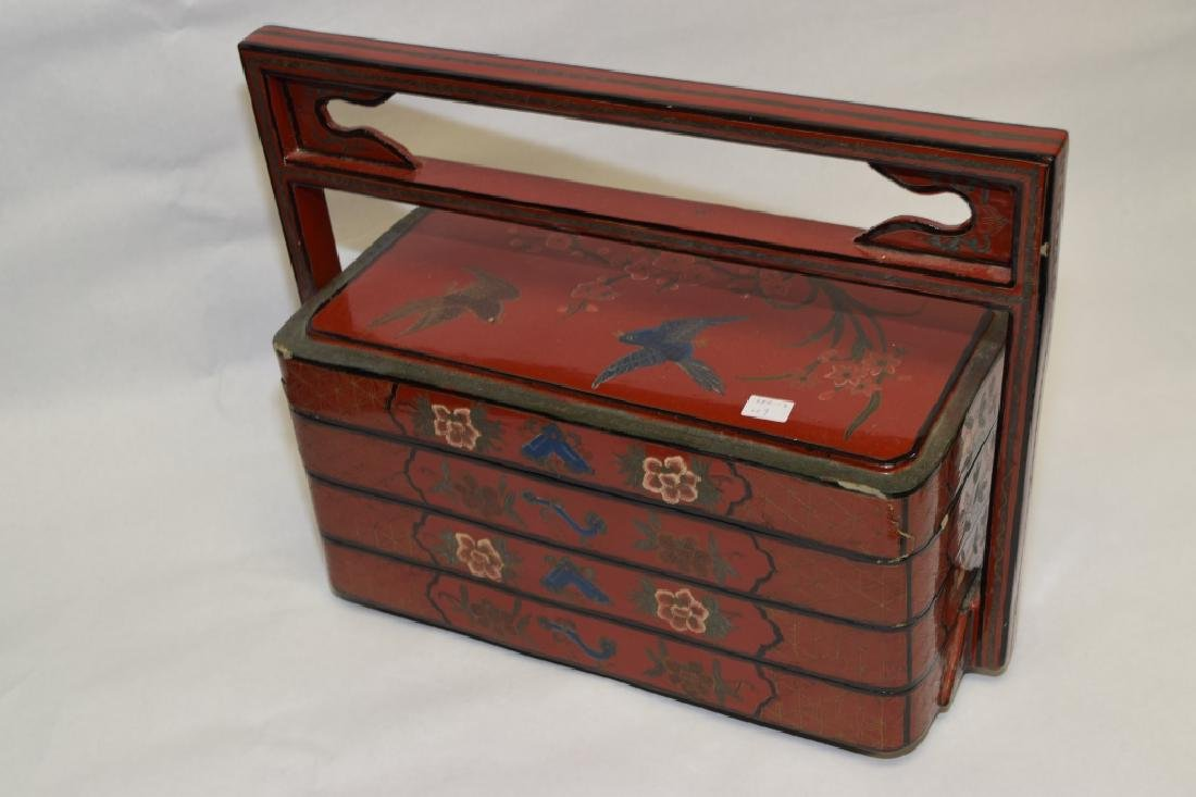 19-20th C. Chinese Lacquer Food Box - 3