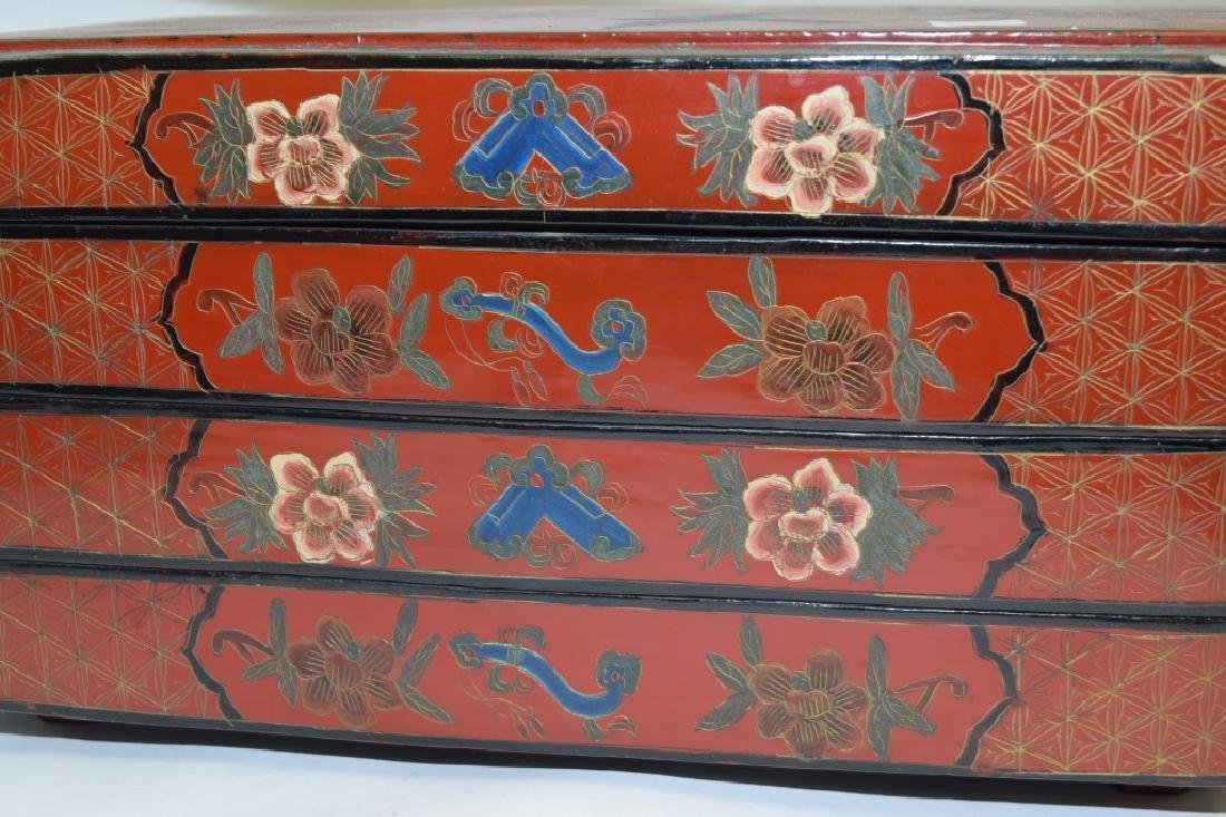 19-20th C. Chinese Lacquer Food Box - 4