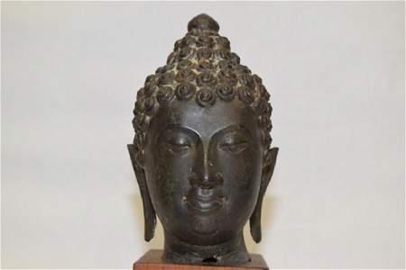 15-18th C. Nepalese or Thai Buddha Head