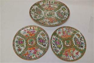 Three Qing Chinese Export Famille Rose Medallion P
