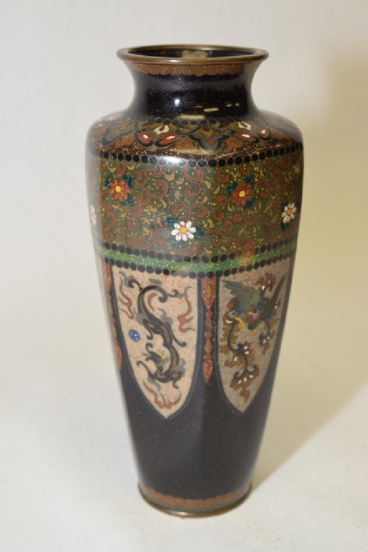 19-20th C. Japanese Cloisonne Dragon Vase