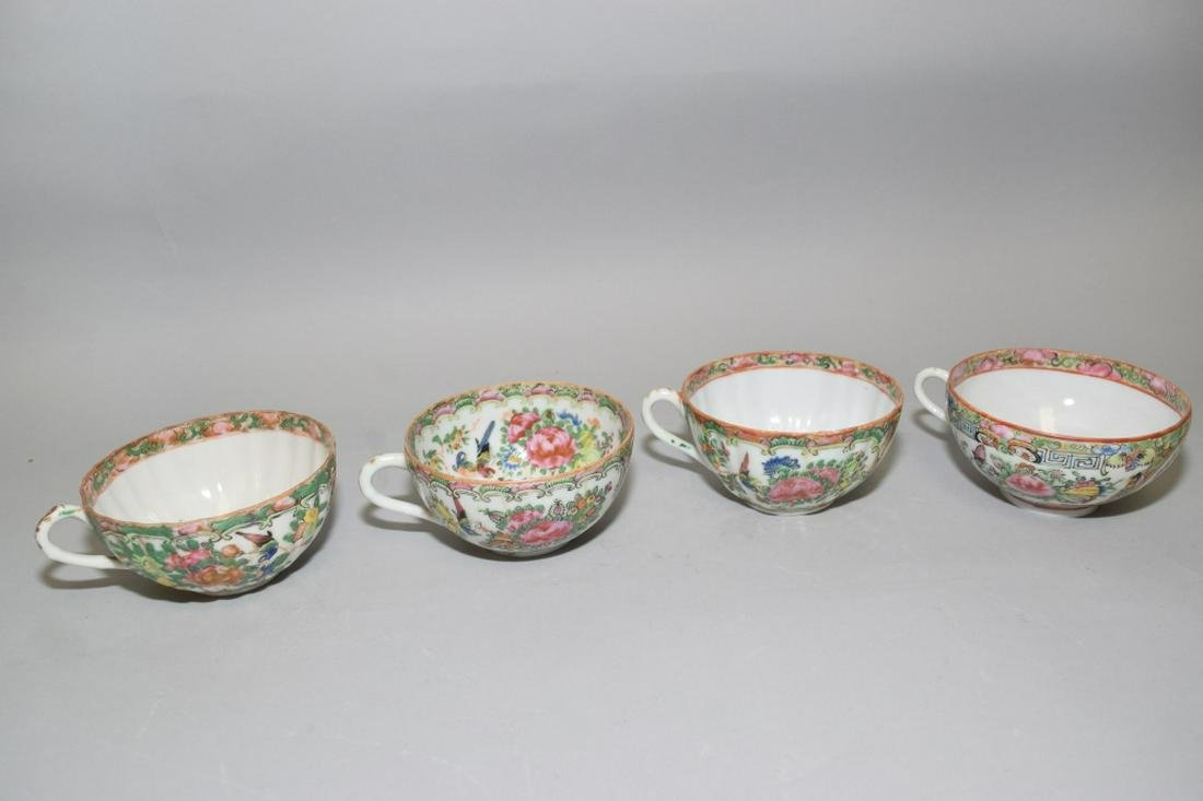 Qing Chinese Export Famille Rose Medallion Cups