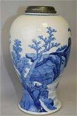 Kangxi Period Chinese Blue and White Vase Lamp