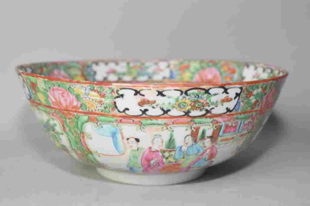 19th C. Chinese Famille Rose Medallion Bowl