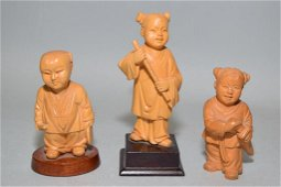 Group of Chinese Huangyang Carved Figures
