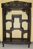 19th C. Chinese Guangdong Style Hongmu Curio Stand