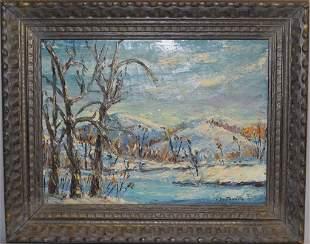 Landscape Oil Painting on Canvas, Voilet Southworh