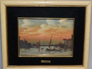 Lucio Cargnel (Italian,1903-1998) Miniature Painting