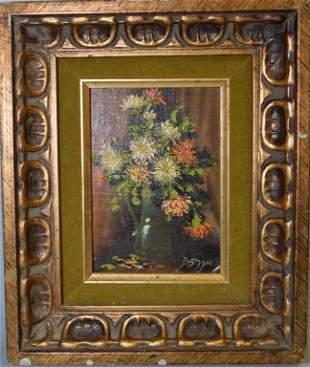Bernard Bosman (-1975), Floral Still Life in Frame