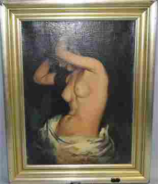 Nude Oil on Canvas, Signed R.L. Boggard
