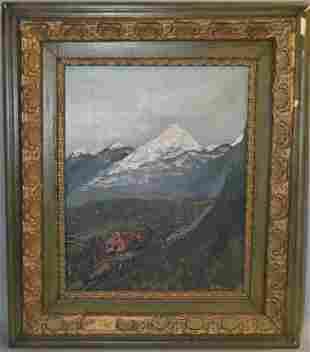J. Powell (1947) Landscape Oil on Canvas