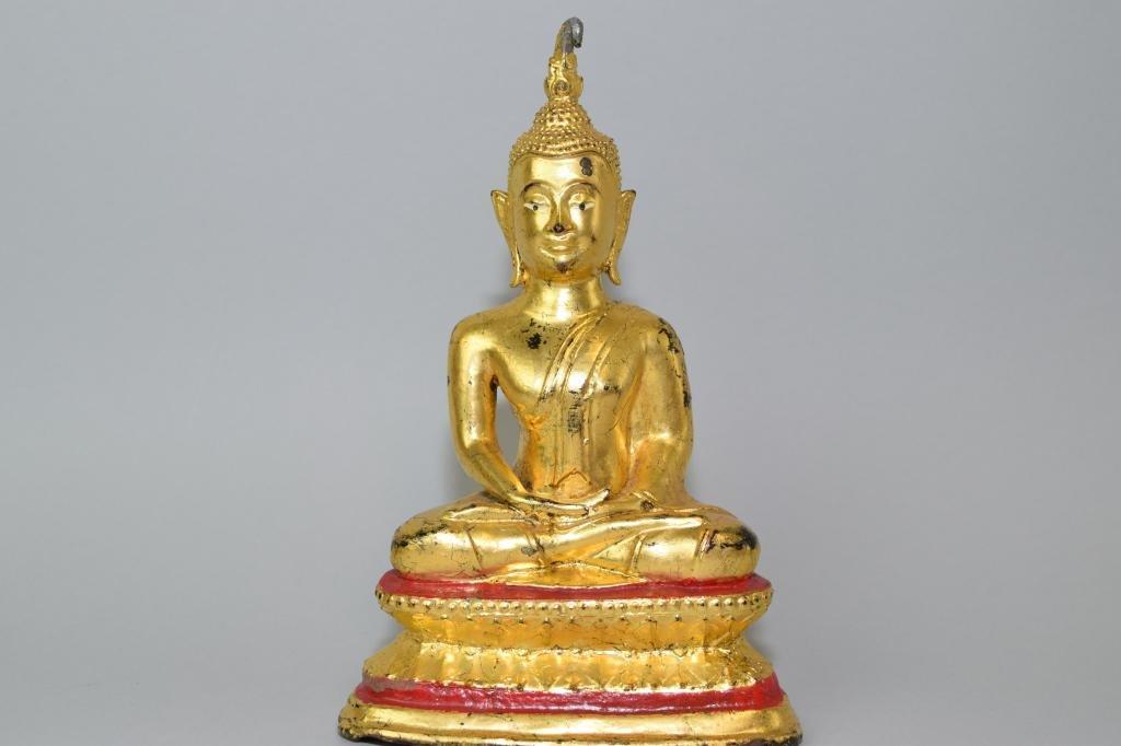 19th C. Thai Gilt Bronze Buddha
