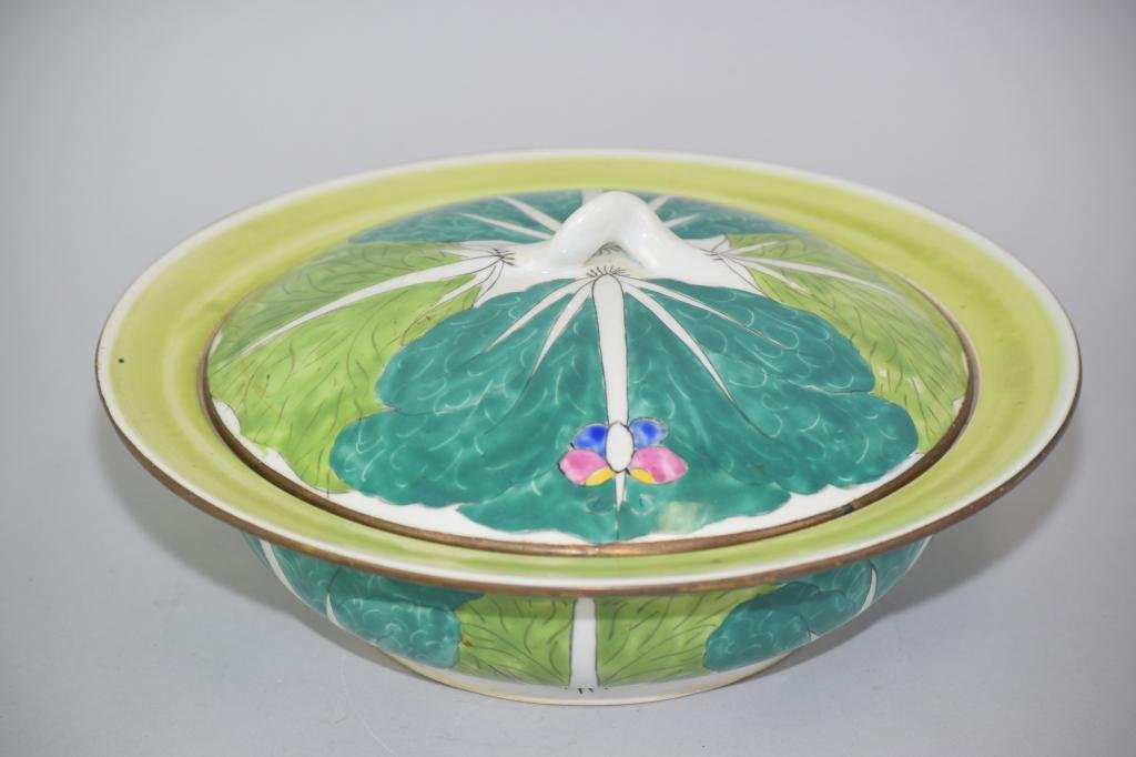 19-20th C. Chinese Export Famille Rose Soup Bowl