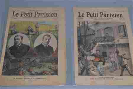 "Two ""Le Petit Parisien"" Magazine, Dated 1900"