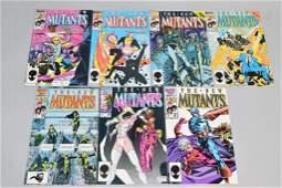 Lot of 7 Vintage Marvel Comic Books NEW MUTANTS