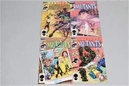 Lot of 4 Vintage Marvel Comic Books NEW MUTANTS