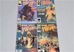 Lot of 4 Vintage Marvel Comic Books THE NEW MUTANT