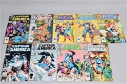 Lot of 9 Vintage Marvel Comic Books CAPTAIN AMERIA