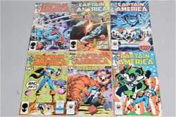 Lot of 6 Vintage Marvel Comic Books CAPTAIN AMERIA