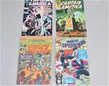 Lot of 4 Vintage Marvel Comic Books CAPTAIN AMERIC