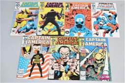Lot of 7 Vintage Marvel Comic Books CAPTAIN AMERIC