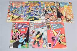 Lot of 7 Vintage Marvel Comic Books THE NEW MUTANT