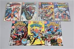 Lot of 7 Vintage DC Comic Books SUPERMAN, SUPERBOY