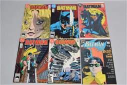 Lot of 6 Vintage DC Comic Books BATMAN