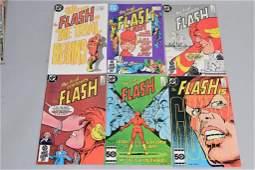 Lot of 6 Vintage DC Comic Books FLASH