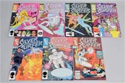Lot of 7 Vintage Marvel Comic Books SILVER SURFER